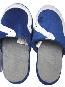 Indianapolis Colts 2011 Big Logo Hard Sole Slippers (Two Tone) - Large