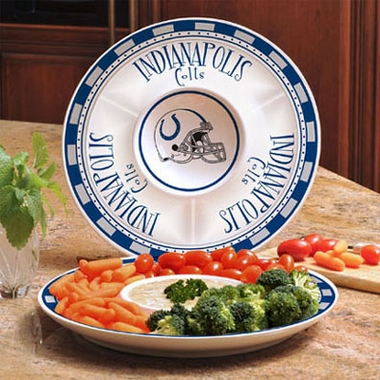 Indianapolis Colts Ceramic Chip and Dip Plate