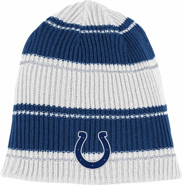 Indianapolis Colts Cuffless Reversible Team Name and Logo Knit Hat