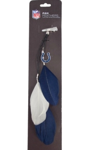Indianapolis Colts Team Color Feather Hair Clip