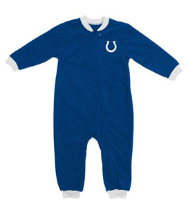 Indianapolis Colts Fleece Toddler Sleeper Pajamas - 4T