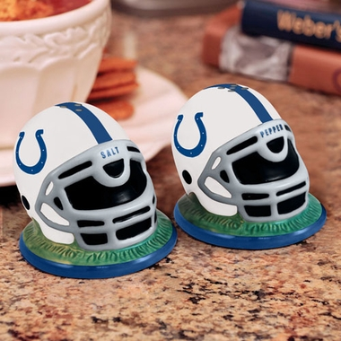 Indianapolis Colts Helmet Ceramic Salt and Pepper Shakers