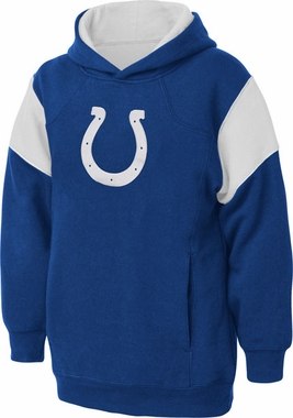 Indianapolis Colts NFL YOUTH Color Block Pullover Hooded Sweatshirt