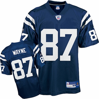 Indianapolis Colts Reggie Wayne Reebok Replica Team Color Jersey