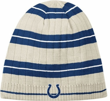 Indianapolis Colts Retro Logo Putty Cuffless Knit Hat