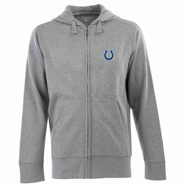 Indianapolis Colts Mens Signature Full Zip Hooded Sweatshirt (Color: Silver)