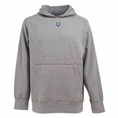 Indianapolis Colts Mens Signature Hooded Sweatshirt (Color: Silver)