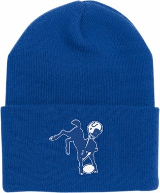 Indianapolis Colts Throwback Logo Cuffed Knit Hat