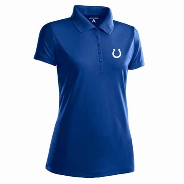 Indianapolis Colts Womens Pique Xtra Lite Polo Shirt (Color: Blue)