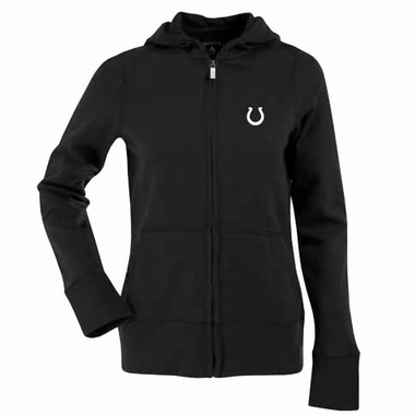 Indianapolis Colts Womens Zip Front Hoody Sweatshirt (Color: Black)