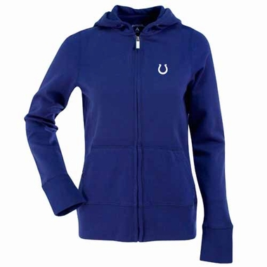 Indianapolis Colts Womens Zip Front Hoody Sweatshirt (Color: Blue)