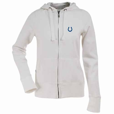 Indianapolis Colts Womens Zip Front Hoody Sweatshirt (Color: White)