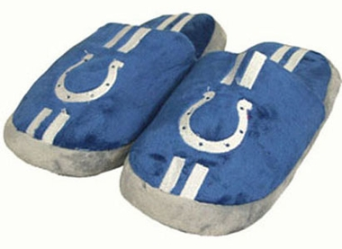 Indianapolis Colts YOUTH Team Stripe Slide Slippers - Small