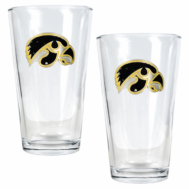 Iowa 2 Piece Pint Glass Set