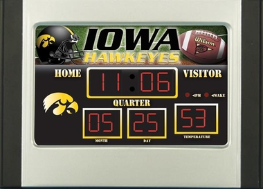 Iowa Alarm Clock Desk Scoreboard