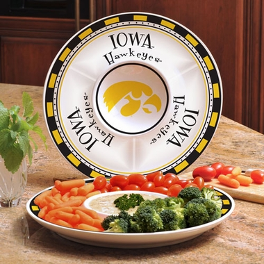 Iowa Ceramic Chip and Dip Plate