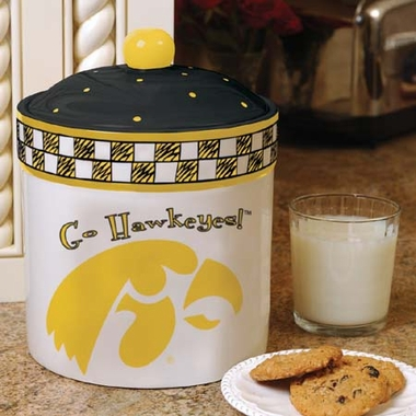 Iowa Gameday Ceramic Cookie Jar