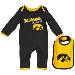 "Iowa Hawkeyes Infant ""Tuck"" Romper & Bib Set 0 3 Months"