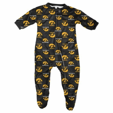 Iowa Infant Footed Zip Raglan Coverall Sleeper