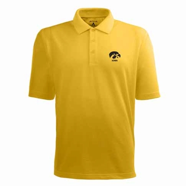 Iowa Mens Pique Xtra Lite Polo Shirt (Color: Gold)