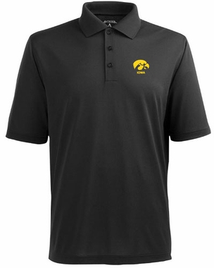 Iowa Mens Pique Xtra Lite Polo Shirt (Color: Black)