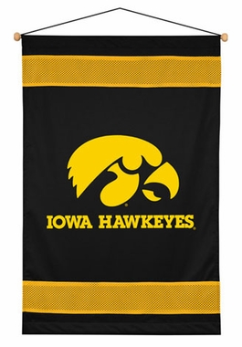 Iowa SIDELINES Jersey Material Wallhanging