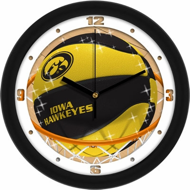 Iowa Slam Dunk Wall Clock