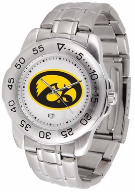 Iowa Sport Men's Steel Band Watch