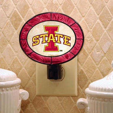 Iowa State Art Glass Night Light