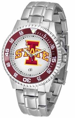 Iowa State Competitor Men's Steel Band Watch