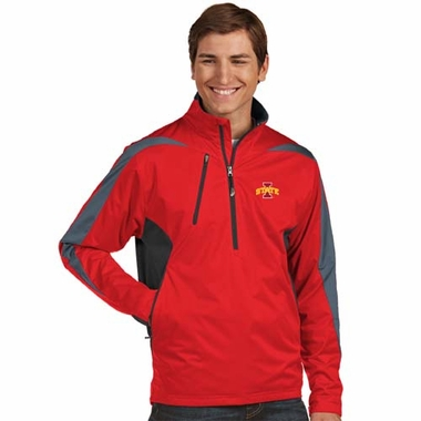 Iowa State Mens Discover 1/4 Zip Pullover (Color: Red)