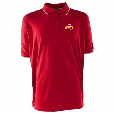 Iowa State Mens Elite Polo Shirt (Color: Red)