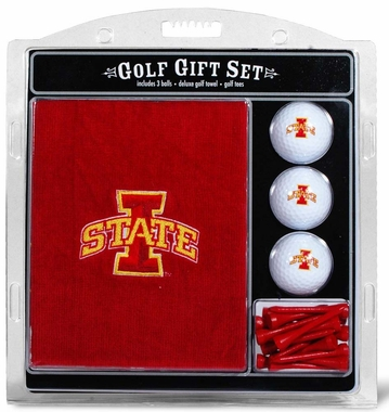 Iowa State Embroidered Towel Golf Gift Set