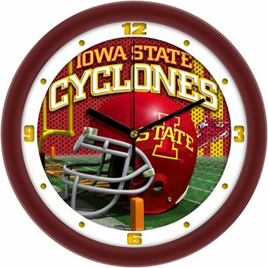 Iowa State Helmet Wall Clock