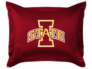 Iowa State Jersey Material Pillow Sham