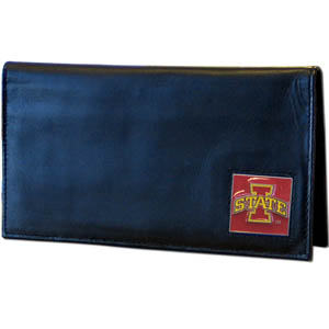 Iowa State Leather Checkbook Cover (F)