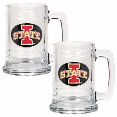 Iowa State Set of 2 15 oz. Tankards