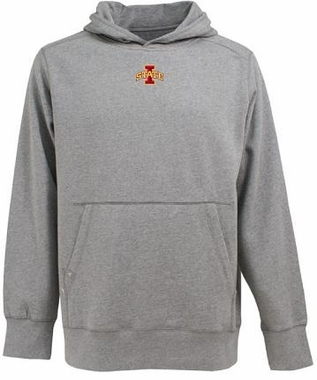 Iowa State Mens Signature Hooded Sweatshirt (Color: Silver)