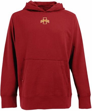 Iowa State Mens Signature Hooded Sweatshirt (Color: Red)