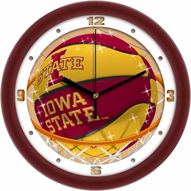 Iowa State Slam Dunk Wall Clock