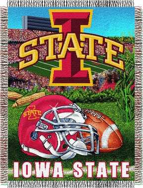 Iowa State Woven Tapestry Blanket