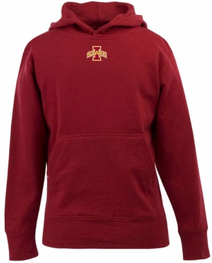 Iowa State YOUTH Boys Signature Hooded Sweatshirt (Color: Red)
