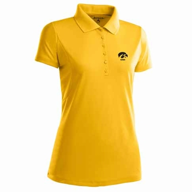 Iowa Womens Pique Xtra Lite Polo Shirt (Color: Gold)