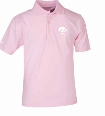 Iowa YOUTH Unisex Pique Polo Shirt (Color: Pink)