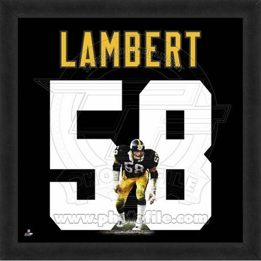 "Jack Lambert, Steelers UNIFRAME 20"" x 20"""