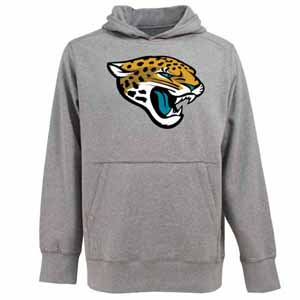 Jacksonville Jaguars Big Logo Mens Signature Hooded Sweatshirt (Color: Gray) - Small