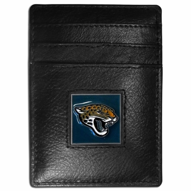 Jacksonville Jaguars Leather Money Clip (F)