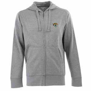 Jacksonville Jaguars Mens Signature Full Zip Hooded Sweatshirt (Color: Silver) - X-Large