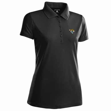 Jacksonville Jaguars Womens Pique Xtra Lite Polo Shirt (Color: Black)