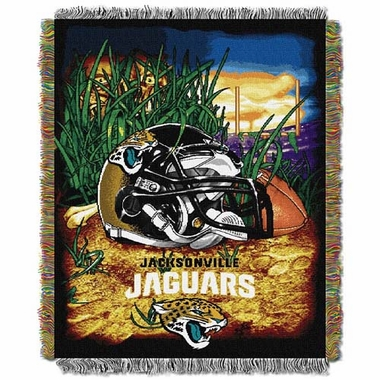 Jacksonville Jaguars Woven Tapestry Throw Blanket